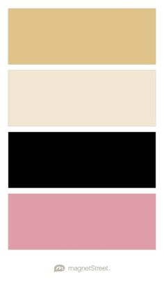 Gold, Champagne, Black, and Blush Wedding Color Palette - custom color palette created at MagnetStreet.com