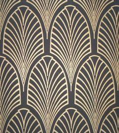 black and gold art deco wallpaper Motifs Art Nouveau, Motif Art Deco, Art Deco Design, Art Deco Style, Art Nouveau Pattern, Tile Design, Design Design, Graphic Design, Casa Art Deco