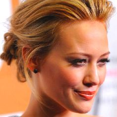 Love the loose bun on Hilary Duff from Shine On!