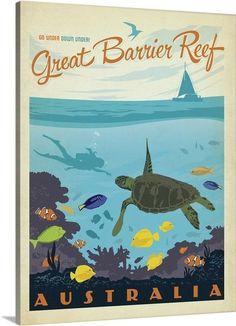 """Great Barrier Reef, Australia by Anderson Design Group via @greatbigcanvas at GreatBIGCanvas.com."