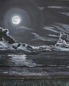 Title:  Beauty Of The Night   Artist:  Ian Donley   Medium:  Painting - Acrylic On Canvas