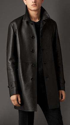 Cashmere Lined Leather Car Coat | Burberry
