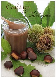Chestnut jam (in French) Food N, Food And Drink, Cuisine Diverse, Sweets Cake, Homemade Cookies, Middle Eastern Recipes, Breakfast Time, Preserves, Food Photography