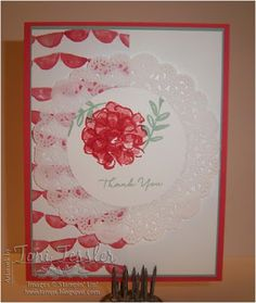 Toni Tessler (tonistamps) Independent Stampin Up Demonstrator.   What I Love, Watermelon Wonder, Mint Macaron, thank you card