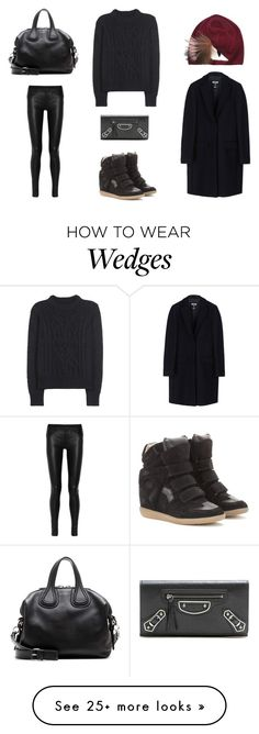 """""""Untitled #1074"""" by salma12222 on Polyvore featuring Fendi, Isabel Marant, Helmut Lang, Givenchy, MSGM and Balenciaga"""