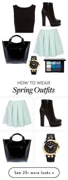 """""""Casual outfit"""" by sushibaeforevah on Polyvore featuring Versace, Massimo Castelli, NYX and Forever 21"""