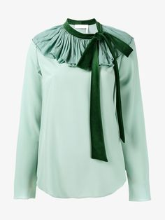 CHLOÉ | Blouse with Velvet Tie | Womenswear | Browns Fashion