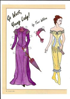 Go West, Young Lady! a paper doll by Teri Wilson (1 of 2)