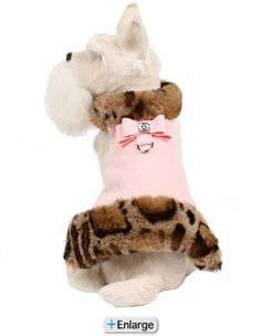 Angora Leopard Fluff Muff Dog Jacket- Pink-Angora Leopard Fluff Muff Dog Jacket- Puppy Pink by Susan Lanci. Keep your dog cute and cozy with this adorable Big Bow Ultrasuede Dog Coat accented with soft Tissavel (faux) Angora Leopard fur. Turkish Angora Cat, Angora Cats, Dog Clothes Patterns, Dog Boutique, Dog Jacket, Pet Fashion, Pet Clothes, Yorkie Clothes, Dog Clothing