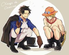 𝓁ℯ𝓈 𝓅𝓁𝓊𝓈 𝒷ℯ𝓁𝓁ℯ𝓈 𝒾𝓂𝒶ℊℯ𝓈 𝒹ℯ 𝒜𝒸ℯ ℒ𝓊𝒻𝒻𝓎 ℰ𝓉 𝒜 𝒮 ℒ 💖 - Ace encore et tj One Piece Manga, Ace One Piece, One Piece Comic, One Piece Funny, One Piece Fanart, Anime One, Anime Guys, Manga Anime, One Piece Pictures