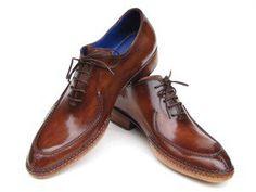 Paul Parkman Men's Side Handsewn Split-toe Brown Oxfords $585