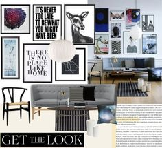 """""""Get the Look: Artsy Living Room"""" by dressesanddressers on Polyvore"""