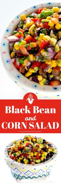 I constantly find myself making this Black Bean and Corn Salad as a side dish or as an appetizer for parties and potlucks. It's also my go-to side dish for the summer, because it can be served at room temperature or chilled. Plus, no cooking is needed with this side dish!