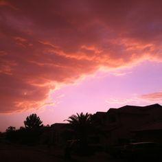 Arizona sunsets. Monsoon season.