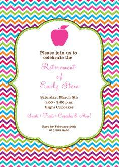 Customized teacher Retirement party invitations- partyinvitations ...