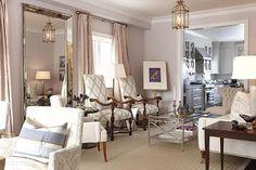 sarah richardson sarah house 4 living room pink lavender----Like the mirror for dining room