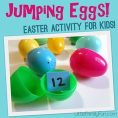 "Gross Motor Activity, ""Jumping Eggs"" (from Little Family Fun)"