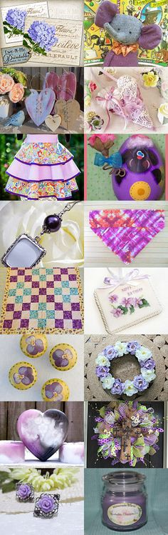 Going Crazy with Purple!  by Sarah on Etsy--Pinned with TreasuryPin.com