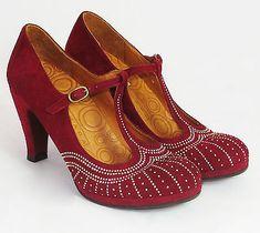 Chie Mihara Asis Tacón Alto De Cuero Gamuza barra en T (rojo) in Clothes, Shoes & Accessories, Women's Shoes, Heels | eBay
