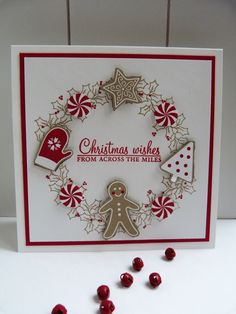 StampinClubNederland - Stampin Up! producten en workshops : Candy Cane Lane - Christmas Wishes from across the miles Christmas Paper Crafts, Stampin Up Christmas, Christmas Cards To Make, Noel Christmas, Christmas Wishes, Xmas Cards, Christmas Greetings, Handmade Christmas, Holiday Cards