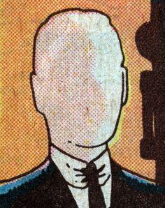 'Mr. Blank', Vintage Comic Book Art, illustration.