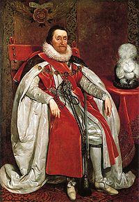 James VI and I (lived 1566 –1625), King of Scots as JamesVI from 1567 and King of England and Ireland as JamesI from the union of the English and Scottish crowns from1603 until his death.Son of Henry Stuart, Lord Darnley and Mary, Queen of Scots. Married Anne of Denmark. Succeeded by his son Charles I of England, Scotland and Ireland.