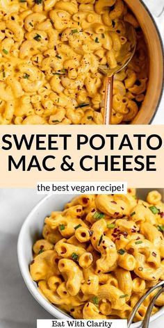 This sweet potato mac and cheese is easy to make, full of flavor and perfect for simple family dinners. This is my favorite vegan mac and cheese that all types of eaters will love. It's rich, creamy, made with cashews, sweet potato and nutritional yeast. This healthy recipe is a total crowd pleaser! #macandcheese #veganmacandcheese Best Vegan Recipes, Healthy Pasta Recipes, Dairy Free Recipes, Noodle Recipes, Meal Recipes, Quick Vegetarian Dinner, Vegan Mac And Cheese, Easy Family Dinners, Baked Fish