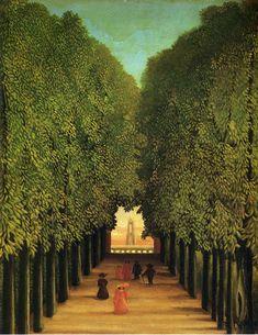 Alleyway in the Park of Saint Cloud - Henri Rousseau (1908)