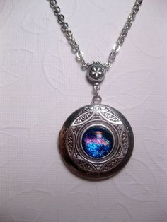 Dichroic Rainbow Ancient Star Locket