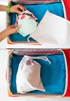 Protect your delicates by tucking them inside a little cloth bag that came with a new pair of shoes or handbag.