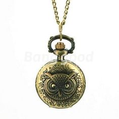 """Vintage Inspired Jewelry Carving Flip Cover Style Antique Bronze Owl Pocket Watch with 30"""" Chain with Gift Box by Gift Lot. Save 67 Off!. $9.95. Includes 30"""" attractive antique bronze chain. Antique bronze old world pocket watch pendant - great artwork. Comes with a jewelry box ready to give as a gift. Size measurement: 38mm tall, 27mm wide, 12mm thickness. With a perfect workmanship and delicate design, this antique style packet watch brings you a revitalized feeling. You can put it on a..."""
