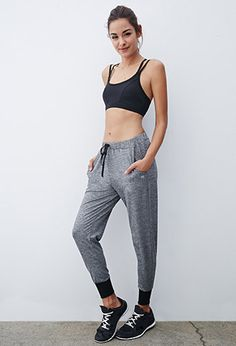 Heathered Drawstring Joggers | Forever 21 | #f21active