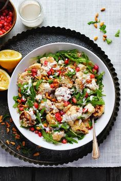 Roasted Cauliflower and Quinoa Salad with Sumac, Lemon + Tahini
