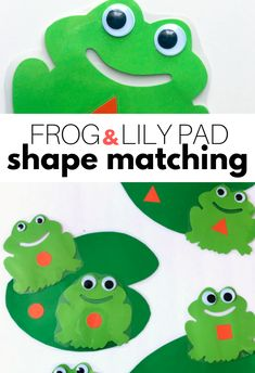Frog Pond Shape Match Activity for Preschool - No Time For Flash Cards Frog Activities, Hungry Caterpillar Activities, Circle Time Activities, Spring Activities, Alphabet Activities, Shape Activities, Childcare Activities, Nature Activities, Frogs Preschool