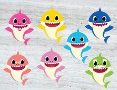 baby shark cutouts decorations on Mercari Boy Birthday Parties, 2nd Birthday, Baby Hai, Shark Images, Baby Shark Doo Doo, Shark Family, Shark Party, Free Baby Stuff, Birthday Invitations