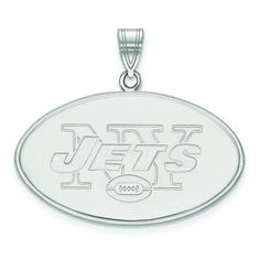 Women s New York Jets Sterling Silver XL Pendant cfedf815c
