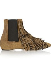 Jubei fringed suede Chelsea boots