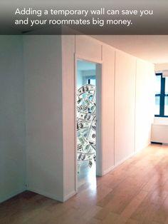 Make a room on pinterest room dividers temporary wall and partition walls - Temporary wall partition bedroom ...