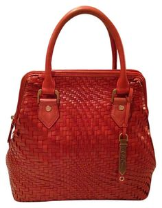 Cole Haan Genevieve Excellent! Woven Leather Tote Handbag Spicy Orange Red Orange Brown Golden Brown Satchel. Save 50% on the Cole Haan Genevieve Excellent! Woven Leather Tote Handbag Spicy Orange Red Orange Brown Golden Brown Satchel! This satchel is a top 10 member favorite on Tradesy. See how much you can save GORGEOUS!!! EXCELLENT CONDITION!!! BEAUTIFUL WOVEN LEATHER WEAVE SPICY ORANGE / GOLDEN BROWN BAG!!! VERY RARE IN THIS COLOR, SIZE AND CONDITION!!! BIG SALE!!! WOW!!!