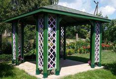 Altana drewniana Ewa 3000 x 3000 - zdjęcie od klienta Backyard Gazebo, Thing 1, Arch, Outdoor Structures, Garden, Patio Ideas, Courtyards, Longbow, Garten