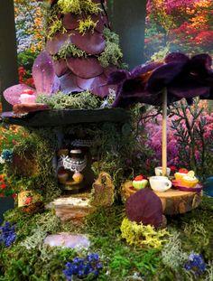 Fairy House, Miniature, Cupcake Cafe, Miniature House, Woodland Fairies, Woodland, Fairies. $48.99, via Etsy.