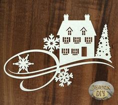 "Laser Cut Chipboard Flourish ""Christmas fantasy"" [1] by SiberianDIYcraftsArt on Etsy"
