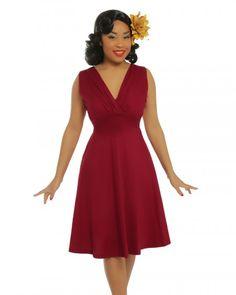 'Karen' Red Swing Dress