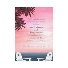 Custom Gay Beach Wedding Invitations from http://www.zazzle.com/lesbian+wedding+invitations