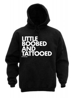 DPCTED Women's Little Boobed Tattooed Hoodie