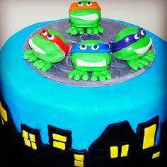Turtle Power! TMNT birthday cake made with love by me! Xx