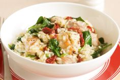 Sun-dried tomatoes add a wonderful flavour to this satisfying chicken risotto.