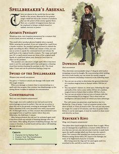 [Items] Spellbreaker's Arsenal (Five anti-caster items, unique recharging rituals)