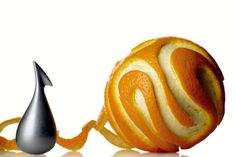 Alessi Apostrophe Orange Peeler.  #orange #peeler #gadgets #technology #product #innovation #invention #cool #crazy #absurd #fantastic #like4like #wow #tech