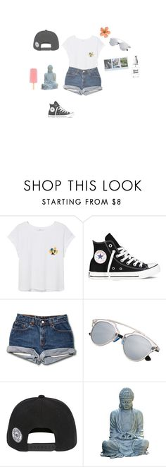 """""""7.30PM"""" by cathxwut ❤ liked on Polyvore featuring MANGO, Converse, Universal Lighting and Decor and KEEP ME"""
